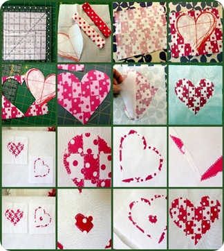 30 minute freezer paper   bondaweb heart applique