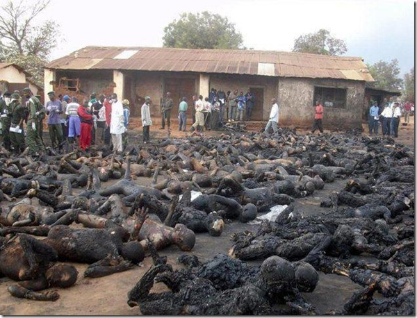 cristãos queimados