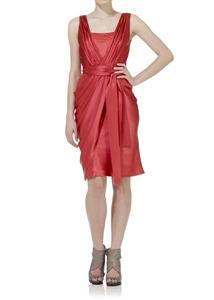 Short Wrap Satin Dress