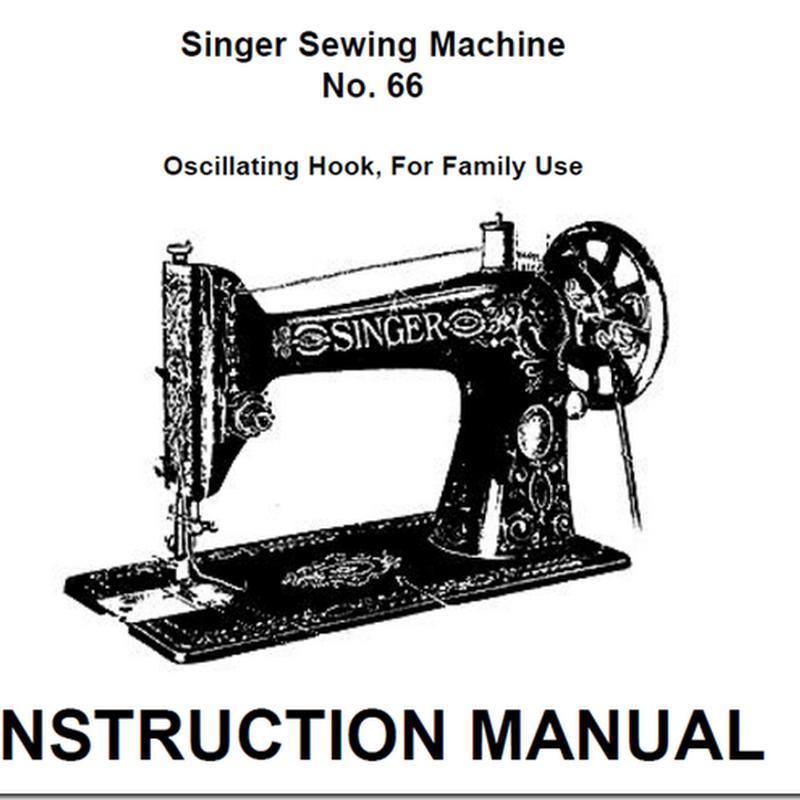 Manual máquina de coser Singer mod 66