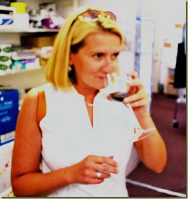 2011-08-13 Lisa tasting Wine