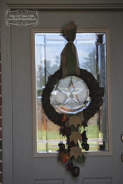 Front door fall wreath