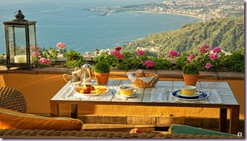 brunch at a balcony