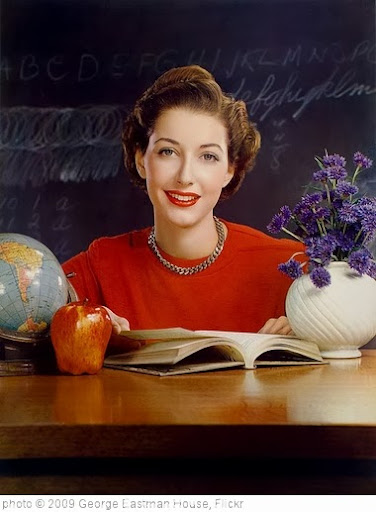 'Timken Roller Bearing Co., calendar, September 1950, teacher at desk' photo (c) 2009, George Eastman House - license: http://www.flickr.com/commons/usage/