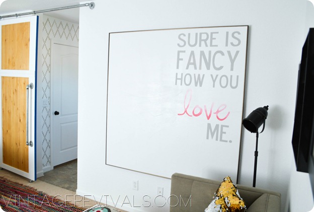 Sure is fancy how you love me canvas