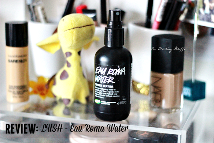 review lush eau roma water toner review