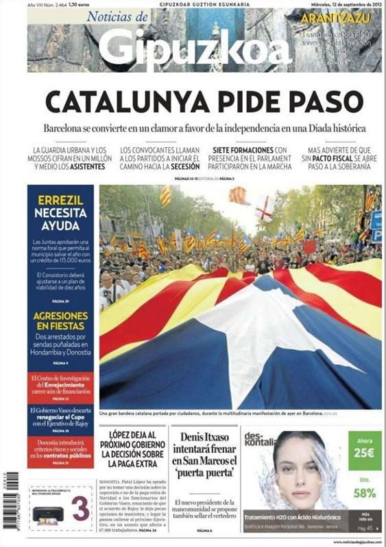 manifestacion de barcelona  110912 Gipuzcoa