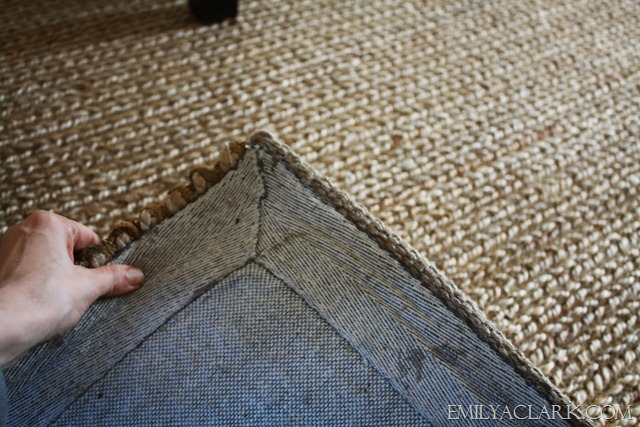 Backing Of Pottery Barn Heathered Chenille Jute Rug