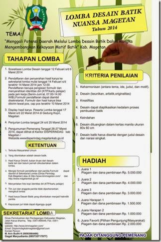 Poster Lomba Batk baru magetan