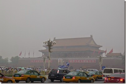 Forbidden City wrapped in haze