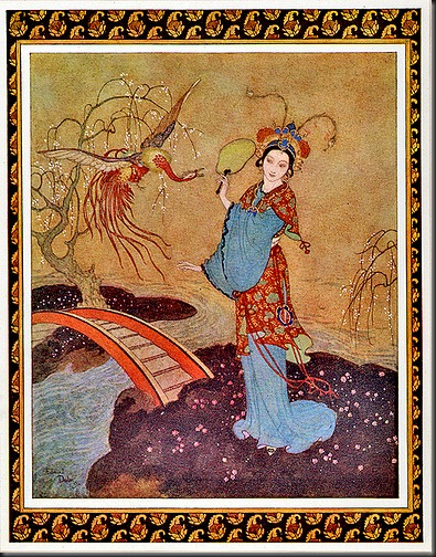 Princess with Exotic Bird—Edmund Dulac—