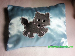 Nightmare Protection Embroidered Wolf Cub Herbal Sleep Pillow