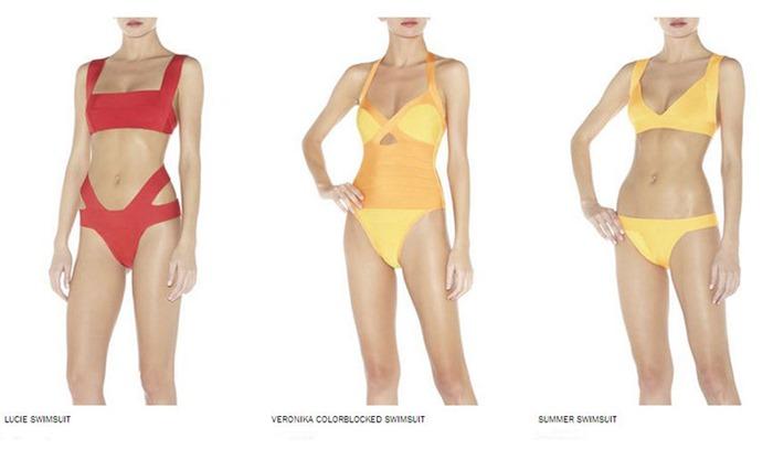 Herve Leger, Herve Leger Swimsuits, bandage swimsuits, costume intero, bikini, Herve Leger costumi