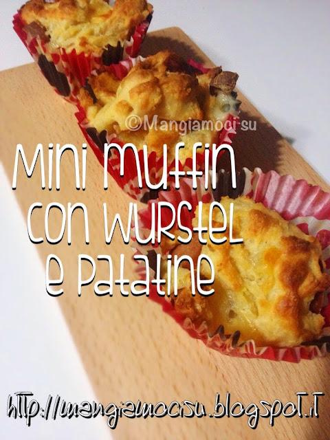 mini-muffin con wustel e patatine