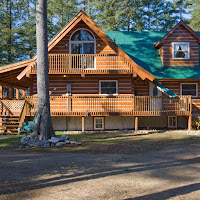 Ecolog Home with covered porch and deck