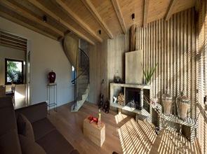 Arquitectura interior casa de madera