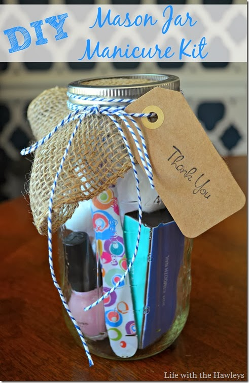 DIY Mason Jar Manicure Kit
