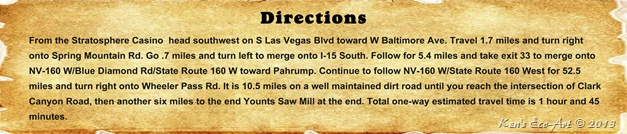 Directions - Wheeler Pass Road