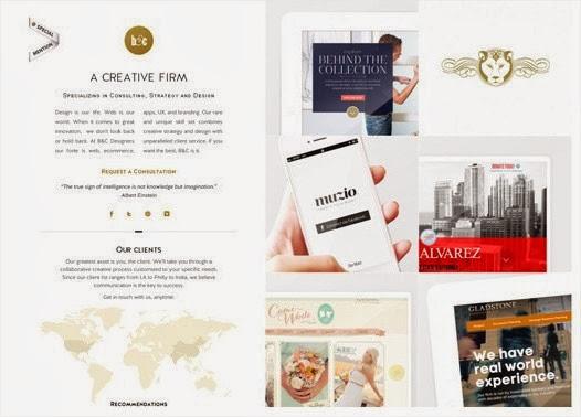 20 hermosos y simples sitios web minimalistas 18