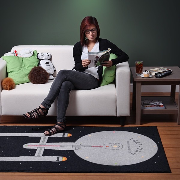 Star Trek Enterprise Rug from ThinkGeek