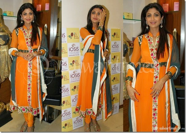 Shilpa_Shetty_Orange_Salwar_Kameez