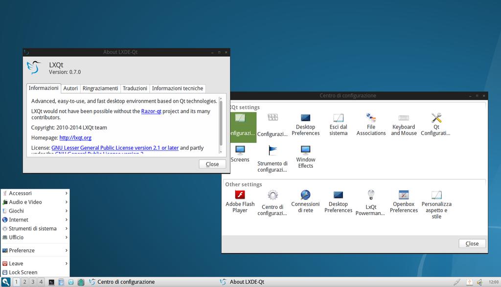 LXQT in Arch Linux