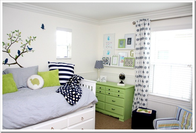 Big boy room reveal a thoughtful place for Blue and green boys bedroom ideas