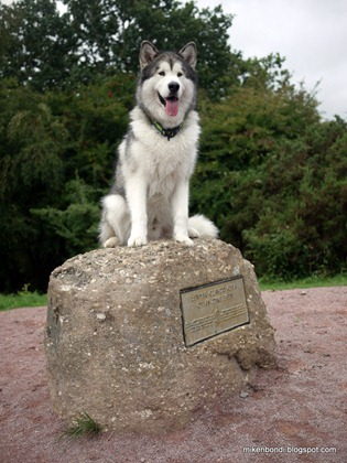 Munson on Offa's Dyke starting stone (2)