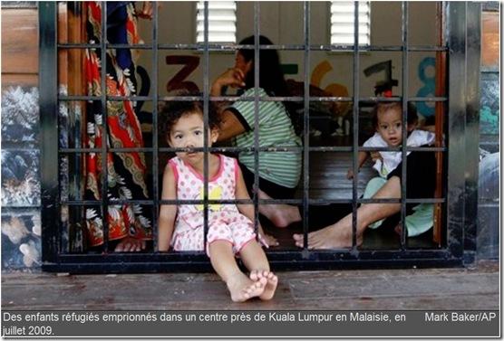 enfants réfugiés malaisie