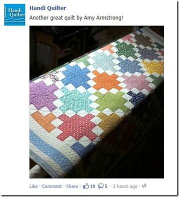 featured on HandiQuilter's Facebook album 7-12-2012