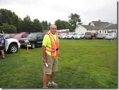 Parking volunteer, Waynesville Rotarian Larry Leatherwood