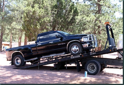 To Colorado, RV park and tow truck 050
