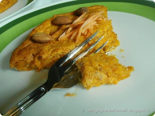 torta tenerina carote mandorle farina integrale rustica