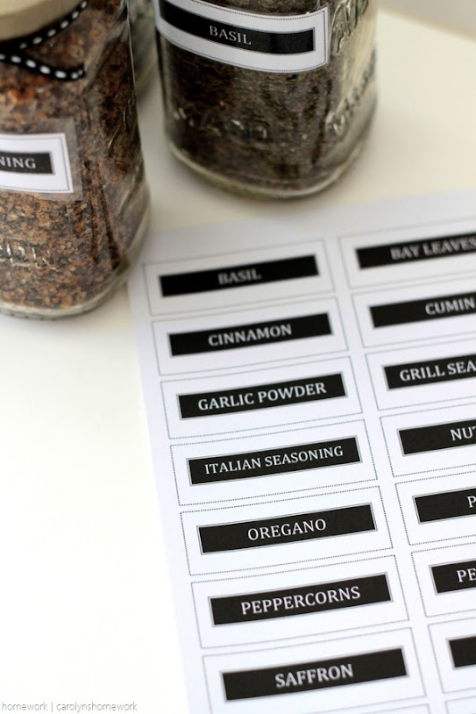 Sauce Jar Upcycle to Spice Jars with Printable Labels - homework (15)