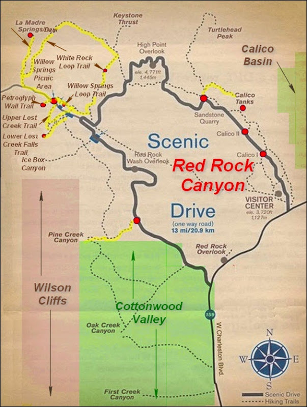 MAP-Red Rock Canyon