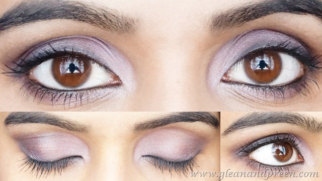 No Brushes Purple Smokey Eye