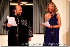 Anne Igartiburu y Jorge Antunes