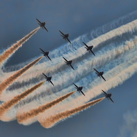 New reds 7 by Kelly Murdoch - Transportation Airplanes ( red arrows, uk, airplanes, arrow, display, jets, sky flying, ztam, flight, england, reds, red, aircraft, air, raf, jet, air show )