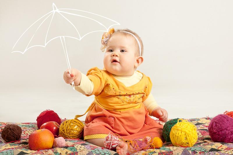 детская Фотосессия для календаря 4 сезона