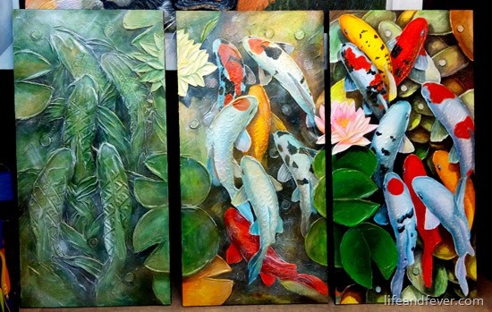 koi evolution triptych