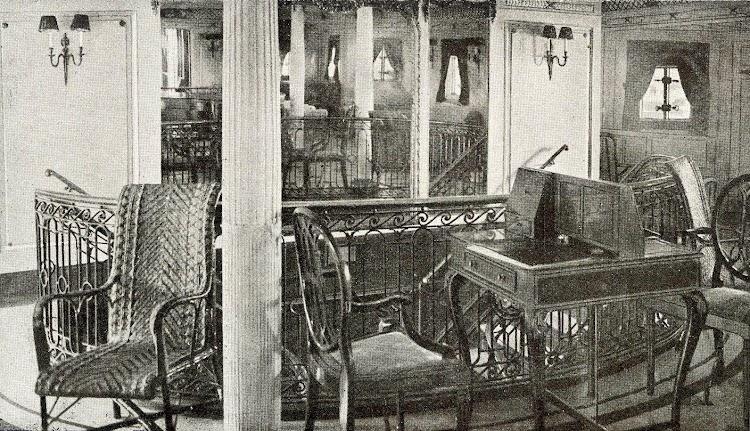 Escalera de la Cámara. Del Libro de Información para el Pasajero. Compañia Trasatlantica de Barcelona. Año 1923.jpg