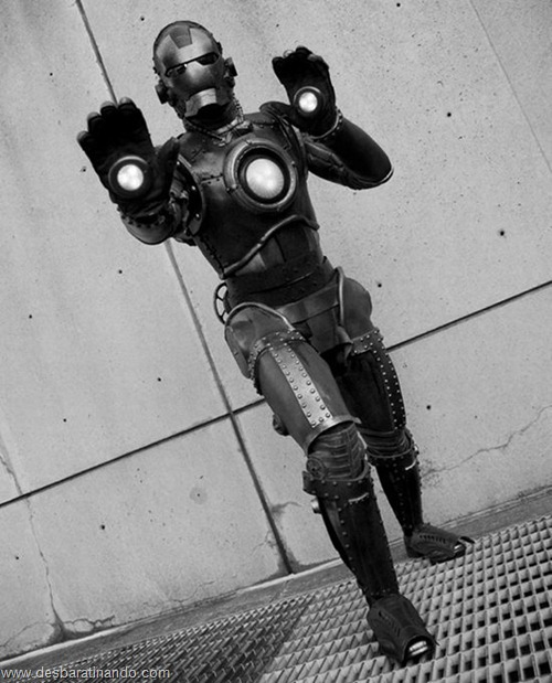 armadura iron man homem de ferro steam punk desbaratinando  (7)
