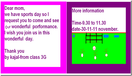 Oakridge international school newton campus ict integration students of grade 3 are very excited for the upcoming sports day event they created their own invitation card for their parents stopboris Images