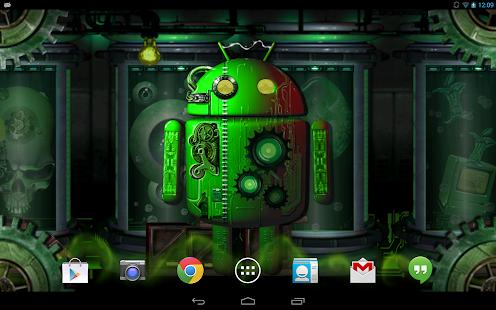 steampunk droid live wallpaper apk download