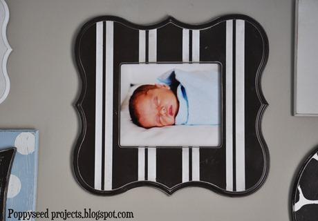 Striped Eleanor Frame