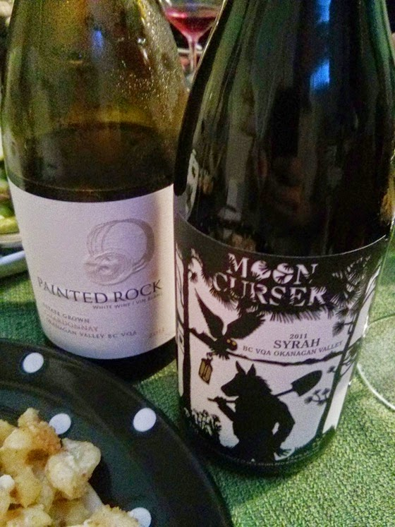 Painted Rock 2013 Chardonnay and Moon Curser 2011 Syrah