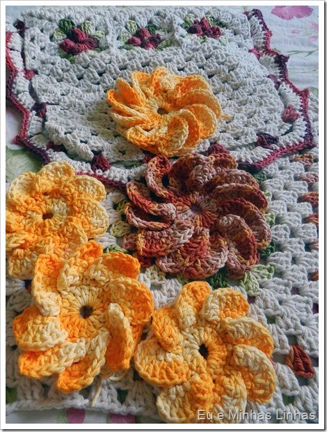 Jogo Banheiro Croche com Flor 2d