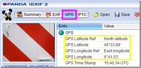 Opanda IExif dati GPS della foto