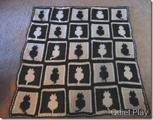 Crocheted Cat Blanket