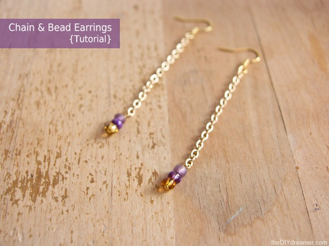 Chain-Bead-Earrings-thediydreamer